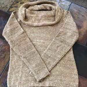 INC Gold Sequined Sweater